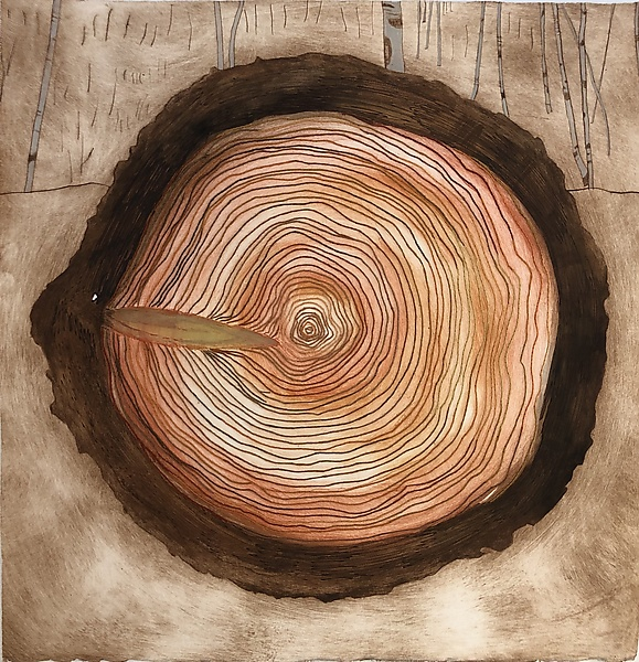 Tree Rings Variable Edition, 13/25, Alla Poupee