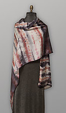 Gray & Red Silk Scarf by Uosis Juodvalkis  and Jacquie Rice (Silk Scarf)