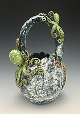 Octopus Discussion Vase by Lilia Venier (Ceramic Vase)