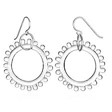 Wheel Earrings by Roxann Slate (Art Glass Earrings)