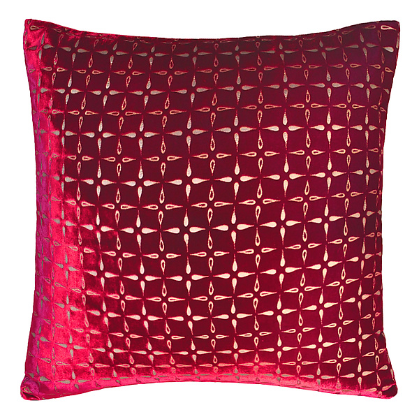 Metallic Petal Flower Velvet Pillow