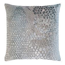 Large Snakeskin Velvet Pillow by Kevin O'Brien (Silk Velvet Pillow)
