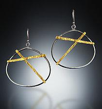 Criss Cross Earrings by Patricia McCleery (Gold & Silver Earrings)