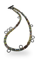 Sleek Tube Necklace by Sheila Fernekes (Glass Bead Necklace)