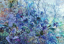 Blue Thistle by Olena Nebuchadnezzar (Fiber Wall Hanging)