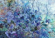 Blue Thistle by Olena Nebuchadnezzar (Fiber Wall Hanging)