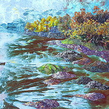 High Tide at Sturgeon Bay by Olena Nebuchadnezzar (Fiber Wall Hanging)