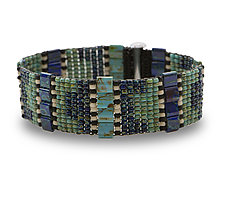 Supple Woven Bracelet by Sheila Fernekes (Glass Bead Bracelet)