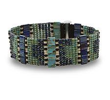 Supple Woven Bracelet by Sheila Fernekes (Glass Bead Bracelet)
