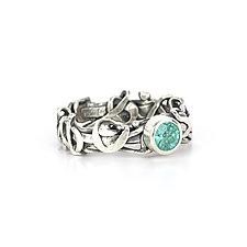 Tangle Halo Gemstone Ring by Janet Blake (Silver & Stone Ring)