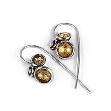 Acacia Cluster Dangles by Emily  Hunziker Phillips (Gold & Silver Earrings)