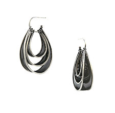 Triple Drop Convertible Earrings by Caitie Sellers (Silver & Copper Mesh Earrings)