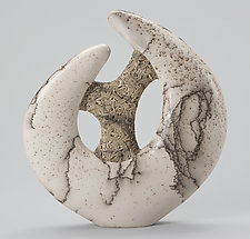 Celtic Disk I by Jeff Margolin (Ceramic Sculpture)