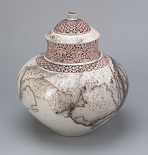 Lidded Vessel I by Jeff Margolin (Ceramic Vessel)