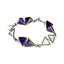 Reveal Bracelet by Hsiang-Ting  Yen (Gold, Silver & Enamel Bracelet)