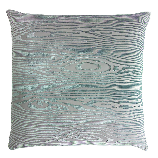 Large Woodgrain Velvet Pillow