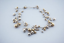 Star Spray Necklace by Elizabeth Earle (Gold & Silver Necklace)