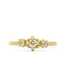 Ariel Three-Stone Diamond Ring by Marian Maurer (Gold & Stone Ring)