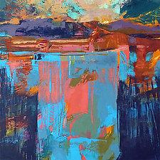Badlands Sunset by Larry Davis (Oil Painting)
