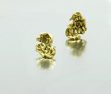 Kettle Corn Earrings by Lori Kaplan (Gold Earrings)
