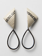 Bold Triangle Earrings by Eliana Arenas (Mixed-Media Earrings)