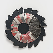 Bold Floral Brooch by Eliana Arenas (Mixed-Media Brooch)