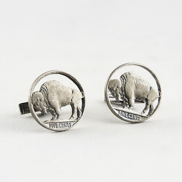 Buffalo Circled Cuff Links