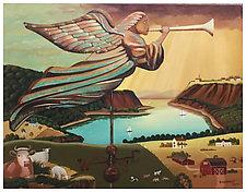 Gabriel Weathered Vane by Warren Godfrey (Acrylic Painting)