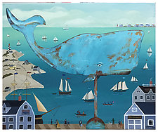 Whale Weathered Vane by Warren Godfrey (Acrylic Painting)