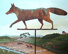 Foxy Weathered Vane by Warren Godfrey (Acrylic Painting)