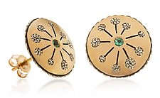 Round Starburst Studs by Radi Brothers Jewelry (Gold & Silver Earrings)
