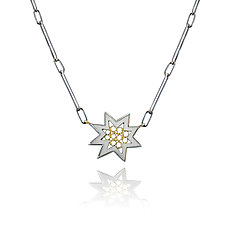 Star Pendant by Radi Brothers Jewelry (Gold & Silver Necklace)