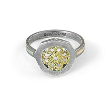 Knitted Filigree Ring by Radi Brothers Jewelry (Gold & Silver Ring)