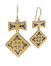 Bow Earrings by Radi Brothers Jewelry (Gold & Stone Earrings)