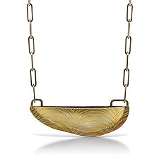 Brass Bateaux Necklace by Sarah Chapman (Gold Necklace)