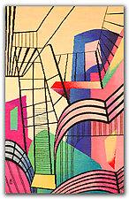 Constructive Interlude by Rita Gekht (Fiber Wall Hanging)