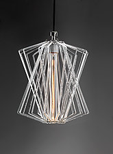 Dagny Loop Pendant by Michael Curran  Hall (Art Glass Pendant Lamp)