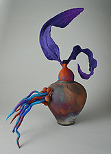 Instinctive Emergence by Ellen Silberlicht (Ceramic and Fiber Sculpture)