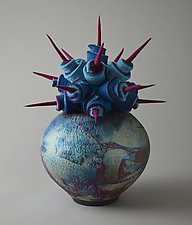Global View by Ellen Silberlicht (Ceramic and Fiber Sculpture)