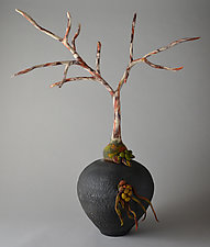 Begin Again by Ellen Silberlicht (Ceramic and Fiber Sculpture)
