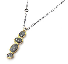Four-Slate Totem Necklace by Jessica Weiss (Gold, Silver & Stone Necklace)