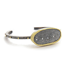 Slate Cuff by Jessica Weiss (Gold, Silver & Stone Bracelet)