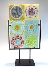 Circle Study by Lisa Becker (Art Glass Sculpture)