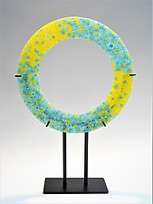 Sun and Water by Lisa Becker (Art Glass Sculpture)