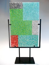 Murrini Landscape by Lisa Becker (Art Glass Sculpture)