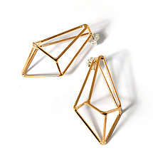 Crystalline Construction Earrings by Sarah West (Steel Earrings)