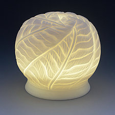 Tropical Garden Light Vessel II by Peri Enkin (Ceramic Table Lamp)