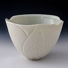 Tropical Garden Bowl by Peri Enkin (Ceramic Bowl)