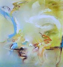 Daffodils Emerging by Anne B Schwartz (Oil Painting)