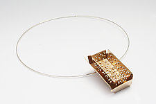 Bronze Box Necklace by Stephanie O'Brien (Silver & Bronze Necklace)